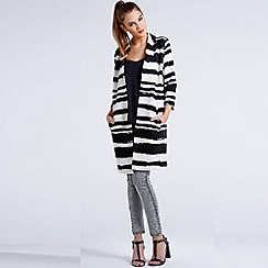 Girls On Film - Black and white striped paint stroke jacket
