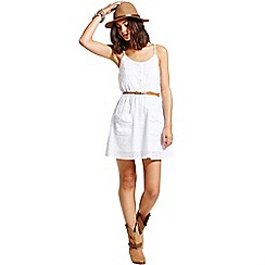 Girls On Film - White broderie summer dress