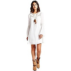 Girls On Film - Cream lace insert dress