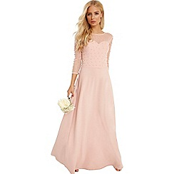 Little Mistress - Pink pearl maxi dress