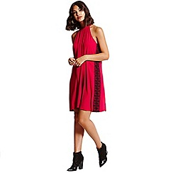 Girls On Film - Cranberry Trim Shift Dress