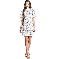 Girls On Film - Floral print high neck dress