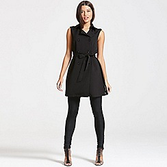 Girls On Film - Black sleevless cross over dress
