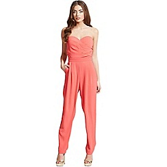 Girls On Film - Coral bandeau jumpsuit