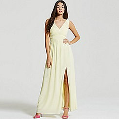 Little Mistress - Lemon empire line maxi dress