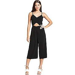 Girls On Film - Black cut out jumpsuit
