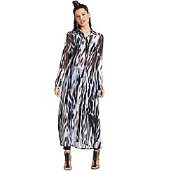 Girls On Film - Printed chiffon maxi shirt dress