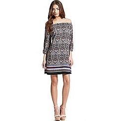 Girls On Film - Paisley print bardot dress