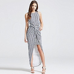 Girls On Film - Stripe knot front bodycon dress