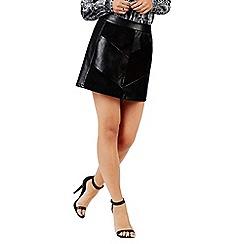 Girls On Film - Black patchwork mini skirt