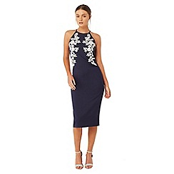 Girls On Film - Navy blue bodycon dress