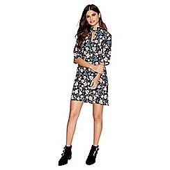 Girls On Film - Bluebell print shift dress