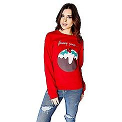Girls On Film - Christmas pudding jumper