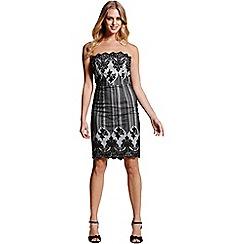Laced In Love - Black lace bandeau dress