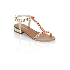 Little Mistress - Nude studded sandals