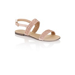 Little Mistress - Two strap glitter sandals