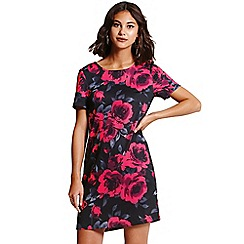Girls On Film - Black and pink floral print tunic