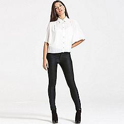 Girls On Film - Cream loose-fit shirt