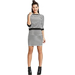 Girls On Film - Monochrome stripe skirt