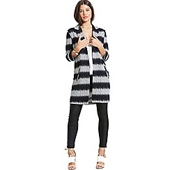 Girls On Film - Grey and black stripe jacket with 3/4 sleeves