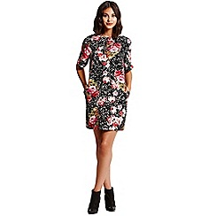 Girls On Film - Red Floral Spot Tunic