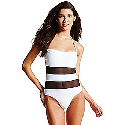 Paper Dolls - Black and white insert swimsuit