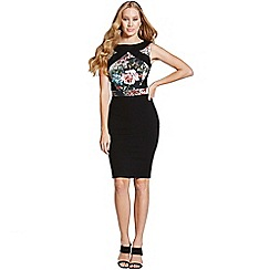 Paper Dolls - Black oriental print sleeveless dress