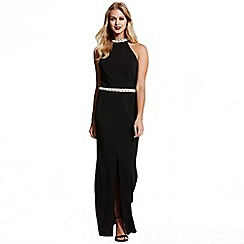 Paper Dolls - Black jewel neck/waist maxi dress