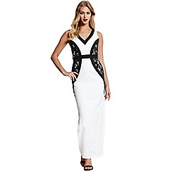Paper Dolls - Monochrome maxi dress