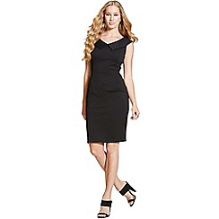 Paper Dolls - Black collar bodycon dress