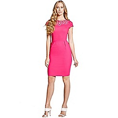 Paper Dolls - Pink cut out cap sleeve dress