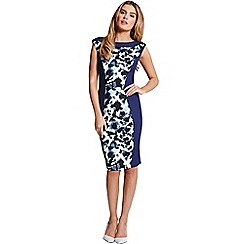 Paper Dolls - Two tone floral print panel dress