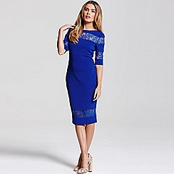 Paper Dolls - Blue lace insert dress