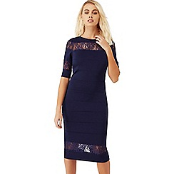 Paper Dolls - Navy blue lace insert dress