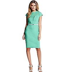 Paper Dolls - Green lace insert dress