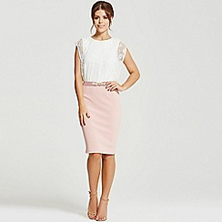 Little Mistress - By Chloe Lewis cream lace and blush dress