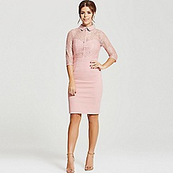Little Mistress - By Chloe Lewis rose blush lace collar dress