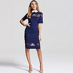 Paper Dolls - Navy lace collar dress