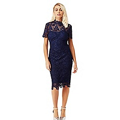 Paper Dolls - Navy blue daisy crochet dress