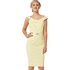 Paper Dolls - Lemon off the shoulder dress