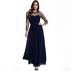 Little Mistress - Navy sequin mesh maxi