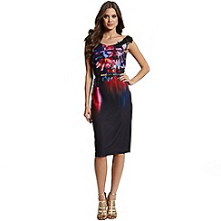 Little Mistress - Floral placement print bardot bress