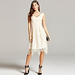 Little Mistress - Cream lace prom dress