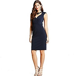 Little Mistress - Navy embellished wiggle dress