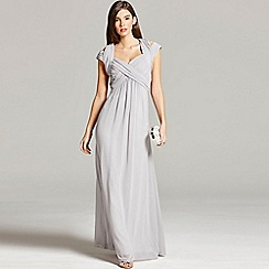 Little Mistress - Grey crossover empire maxi dress