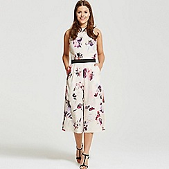 Little Mistress - By Chloe Lewis petal print cross back jumpsuit