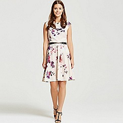 Little Mistress - By Chloe Lewis petal print belted prom dress