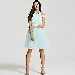 Little Mistress - Mint tulle prom dress