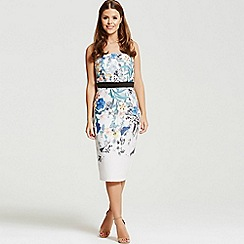 Little Mistress - By Chloe Lewis botanical print bandeau midi dress