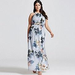 Little Mistress - Curvy floral print occasion maxi dress
